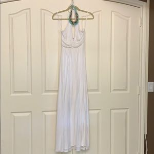 Sky White And Embroidered Dress Size Small